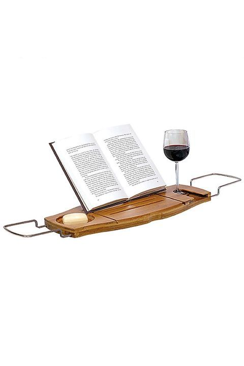 Bathtub CaddyWith room for a wine glass and a book, this caddy will ensure she has the most relaxing bubble bath ever.  Mother's Day Gifts