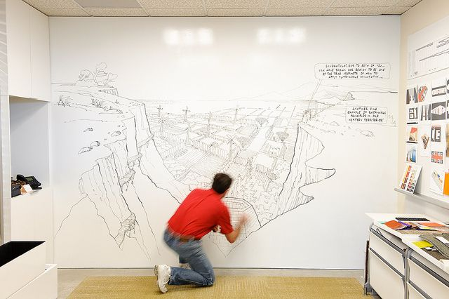 Awesome IdeaPaint wall mural
