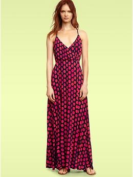 Dotted Maxi Dress in Fuchsia polka dot from Gap...perfect for summer.