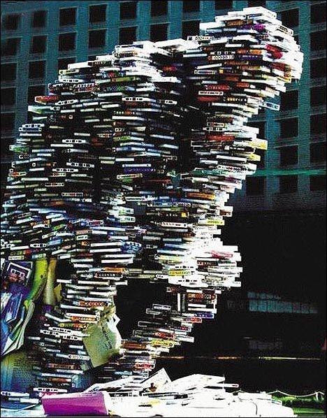 Book Sculpture: balancing act.
