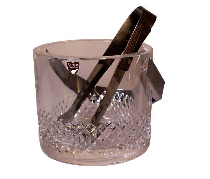 Ishink i kristallglas från Orrefors