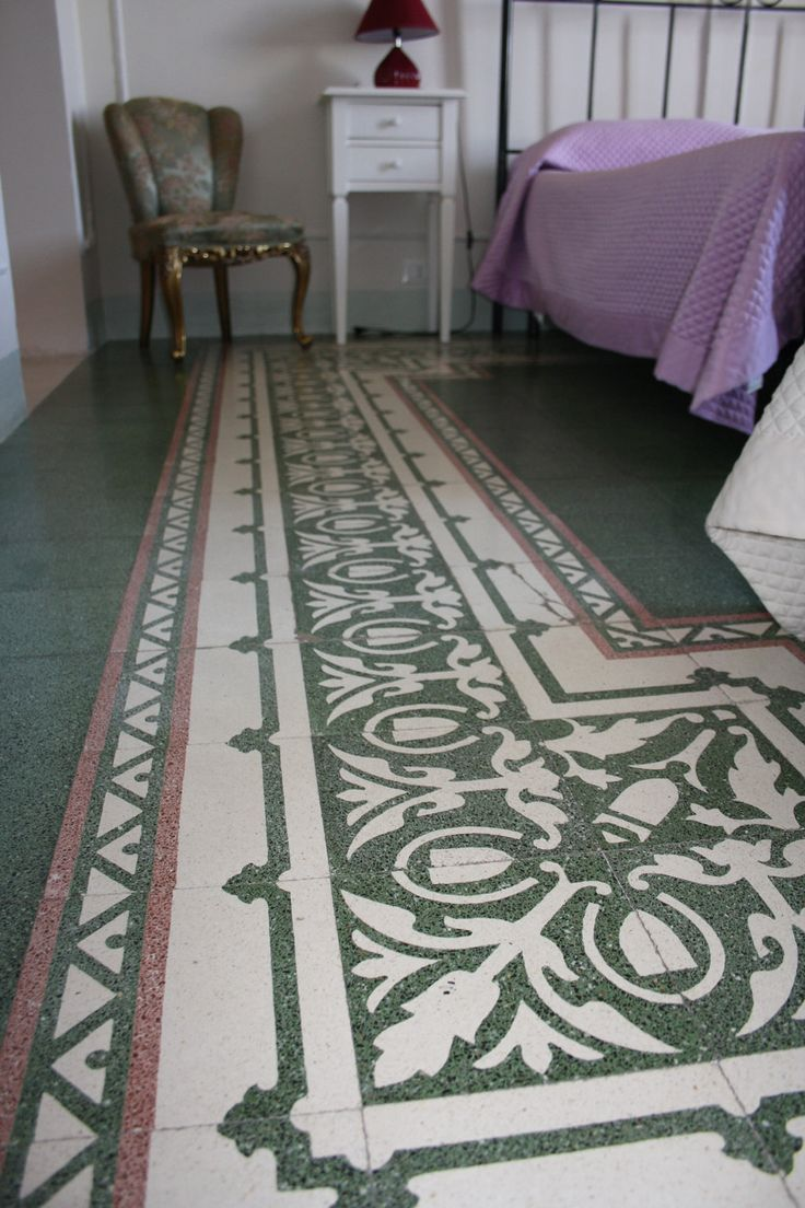 Ancient decorated #floor of a #sicilian house. In #Sicily you can walk on the flowers, the hearts or the geometrical fantasies remaining at #home. This is an old floor of #B&B Belveliero at #Trapani. Here the post:    https://ablogaboutsicily.wordpress.com/2014/05/31/bb-belveliero-accomodation-in-trapani/ For more informations have a look at bebtrapanilveliero.it