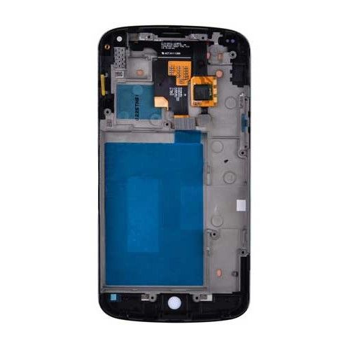 Buying LG Nexus 4 LCD Digitizer Assembly + Front Housing Frame in black color from Phone Part World comes up with FREE SHIPPING and warranty. Best Parts, Best prices.