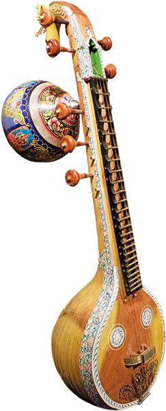 Veena, an Indian instrument, not to be confused with the Sitar.