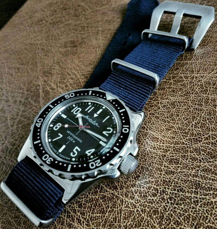 Vostok amphibia mod in 110 case Reloj, Accesorios