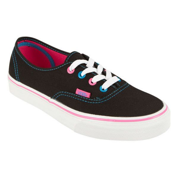 VANS Authentic Womens Shoes ($35) ❤ liked on Polyvore featuring shoes, sneakers, vans, women, rubber shoes, laced sneakers, cushioned shoes, lace up sneakers and lacing sneakers