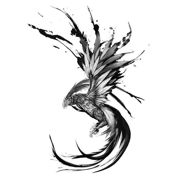 Mind-blowing black flying phoenix. Color: Black. Tags: Best, Awesome, Great