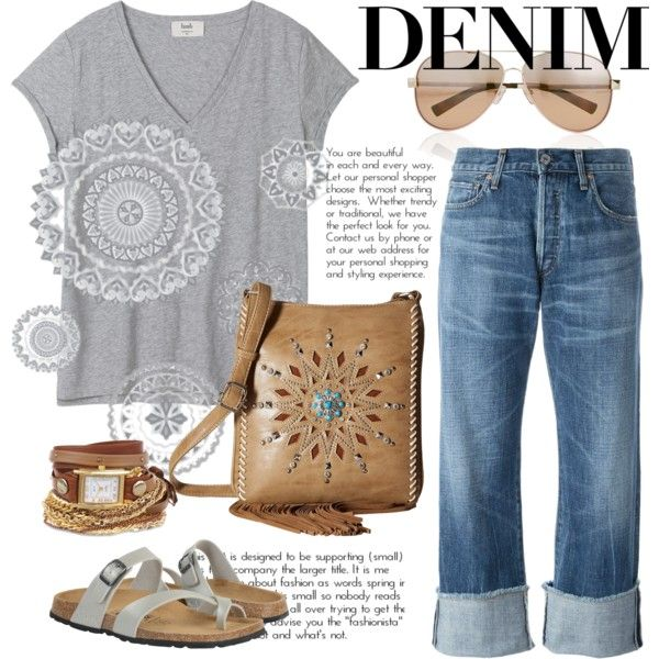 A fashion look from July 2016 featuring Citizens of Humanity jeans, Betula sandals and M&F Western messenger bags. Browse and shop related looks.