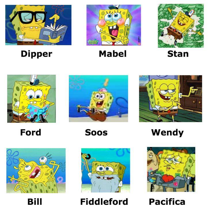 My two favorite things SpongeBob and Gravity Falls :D