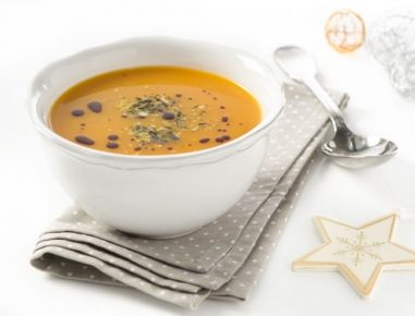 Kürbis-Kokosnuss-Curry-Suppe - Rezept