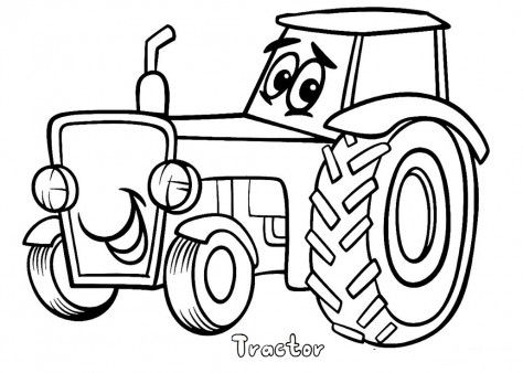 barn tractor coloring pages - photo#11
