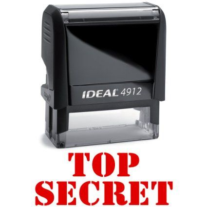 Amazon.com: TOP SECRET Office Stock Self-Inking Rubber Stamp: Office Products