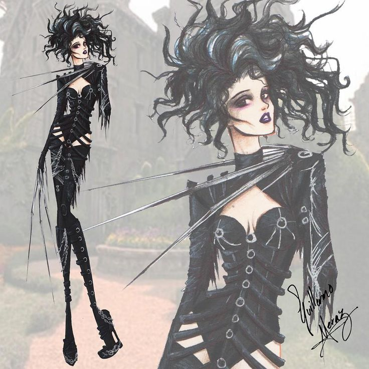 The Tim Burton Fashion Collection by Guillermo Meraz. 3. Edward Scissorhands