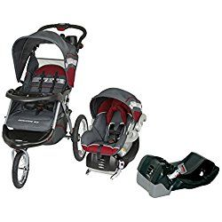 Baby Trend Expedition ELX Jogger Travel System Red + Extra Car Seat Base