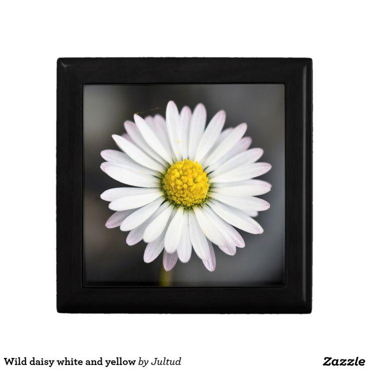 Daisy Kitchen Decor: Wild Daisy White And Yellow Gift Box
