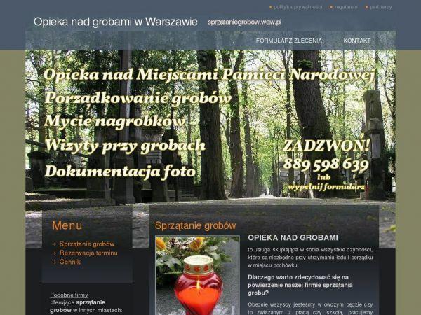 Sprzataniegrobow.waw.pl | Profesjonalny audyt strony internetowej