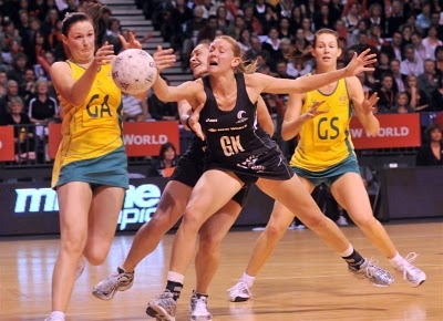 My life in the US is lacking a little....  There is no netball.  Not an ounce.  And I miss it very, very much.  Especially the most awesome and amazing bouts between the Aussies and the Kiwis.  There is nothing like it.