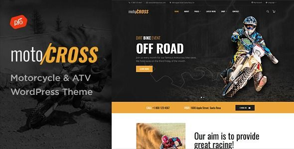 Motocross Motorcycle Atv Wordpress Theme Show Off Your Work With This Eas Wordpress Themes And Plugins Motocross Wordpress Theme Wordpress