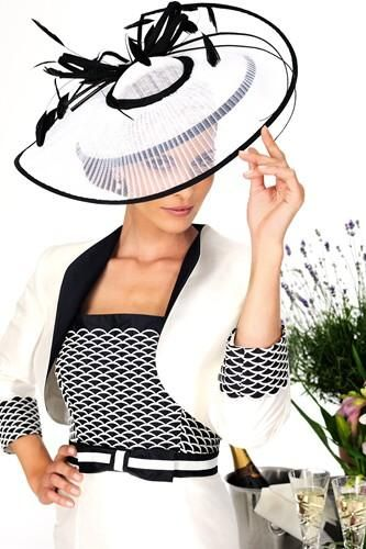 For your 'My Fair Lady' moment at Royal Ascot perhaps? A very sophisticated outfit from Dress Code by Veromia.