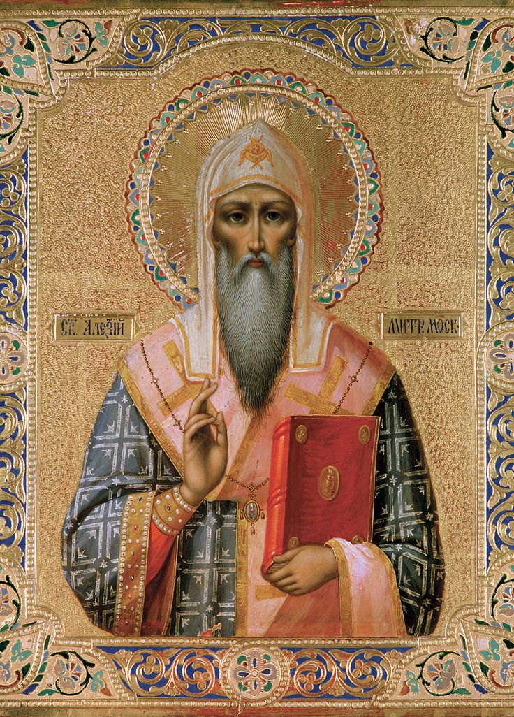 """St. Alexius strongly cared about his flock, organized monasteries, and built relationships with the Kahn's Golden Horde. In 1357 Khan demanded that the Grand Duke send the saint to him in order to heal the blind Taydulu, his wife. """"The petition and the case exceeds the measure of my strength"""" said St. Alexius """"but I believe in One who gave his sight to the blind. He will not despise a prayer of faith."""" And indeed, by his prayer and sprinkling of holy water, the wife of the Khan was healed."""