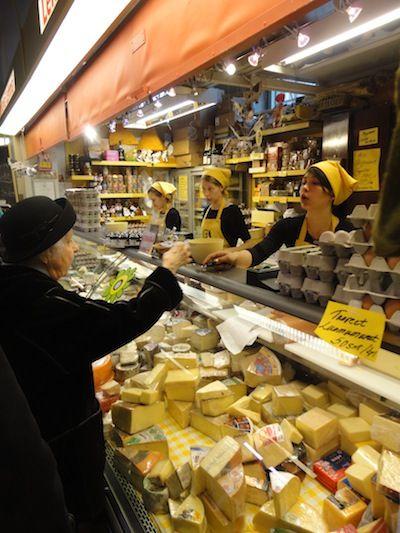 Cheese boutique Lentävä Lehmä (Flying Cow) at Hakaniemi Market Place.