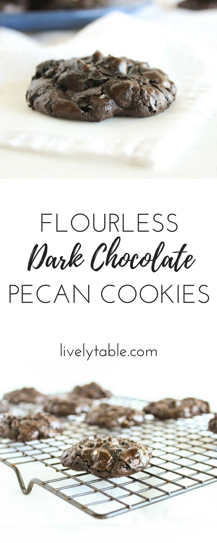 Flourless Chocolate Pecan Cookies | Recipe | Delicious ...