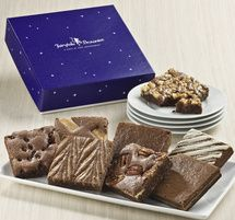 Fairytale Brownie Eight - Slices of heaven with eight assorted brownies nestled inside our purple enchanted gift box.
