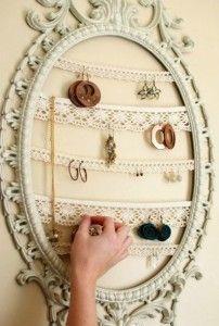 DIY - Organiser, exposer et ranger ses bijoux à l'aide d'un cadre