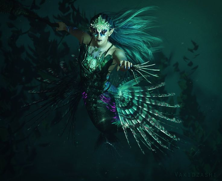 Merman Warrior by *Vakidzashi on deviantART | Mermaid ...