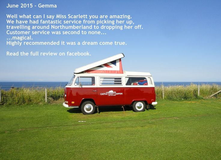 Castle Coast Campers Vintage VW Camper Hire In Yorkshire The North