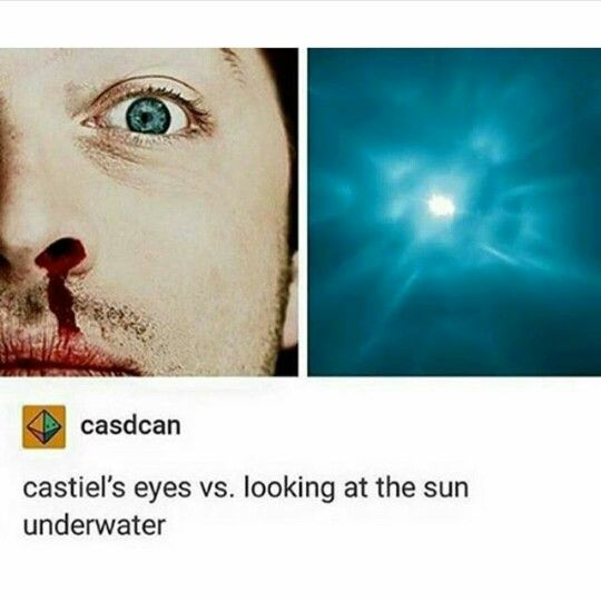 LOOKING AT THE SUN THROUGH WATER IF ONLY WE COULD GET DEAN TO STOP LOOKING DOWN ON HIMSELF AND LOOK UP