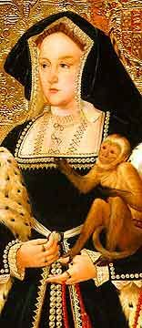On this day 16th December, 1485 was born Catherine of Aragon (1485-1536) she was the first wife of Henry VIII. At the age of three Catherine was betrothed to Prince Arthur, heir to the English throne, and they married in 1501 but Arthur died five months later, Catherine then married Arthur's brother Henry VIII. She bore him six children but only one survived Mary I and Henry divorced her against the Pop's wishes in pursuit of a male heir