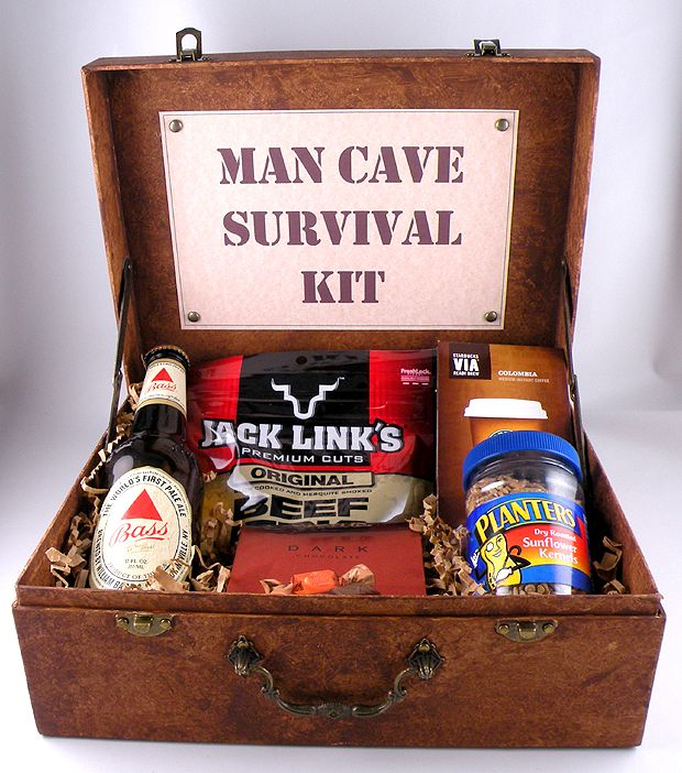 Here is a cardboard case made to look like leather with a simple technique. http://www.ginatepper.com/man-cave-survival-kit/