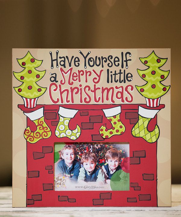 Loving this 'Merry Little Christmas' Fireplace Picture Frame on #zulily! #zulilyfinds