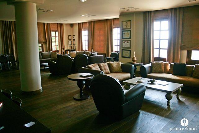 The lounge room at Ktima Biblia Chora.