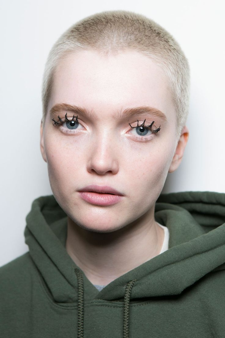 Jason Wu. Super long spider lashes with bare skin.