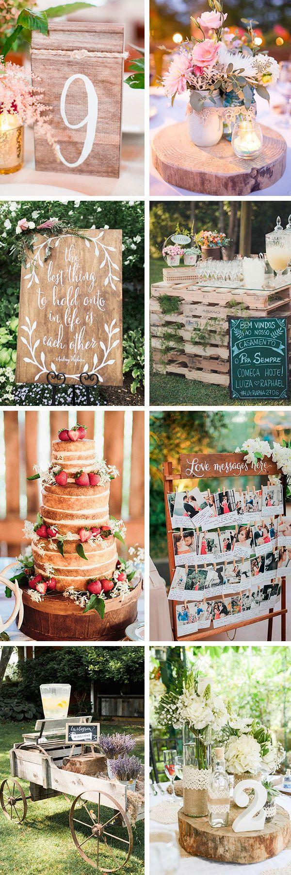 Ideas para decorar una boda rústica | El Blog de una Novia | #boda #rustico