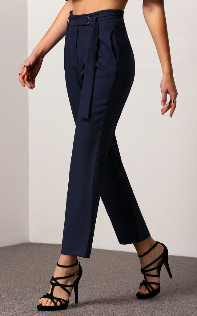 High Waist Cigarette Trousers - SilkFred