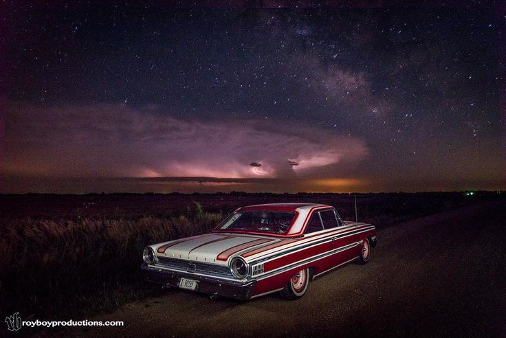 I wish the Lightning would have cooperated more but it still came out cool. #Galaxie500 30 second single exposure with the iPhone flashlight #lightpainting the car. I never get the chance to do these kind of shots it was kind of cool when I was driving and saw the opportunity.
