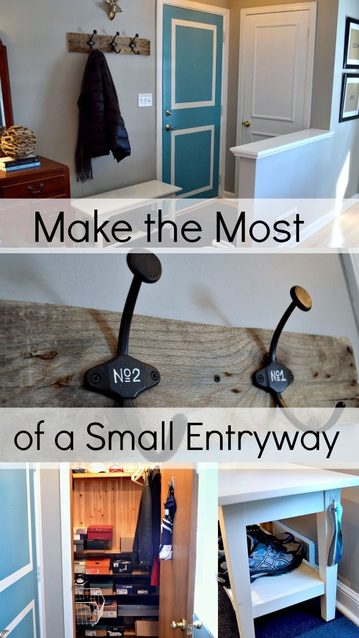 How to make the most of a small entryway. #smallspaceliving www.chatfieldcourt.com