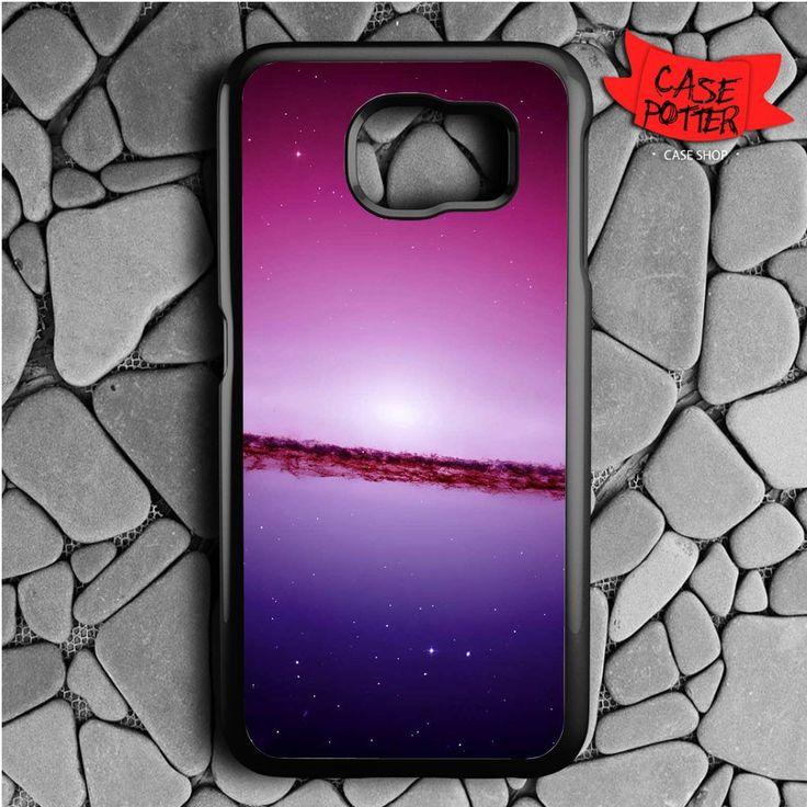 Purple Space Samsung Galaxy S6 Black Case
