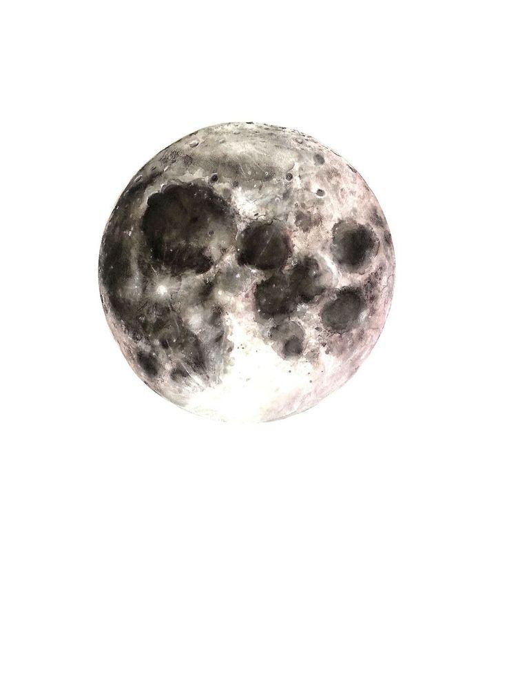 watercolored moon.