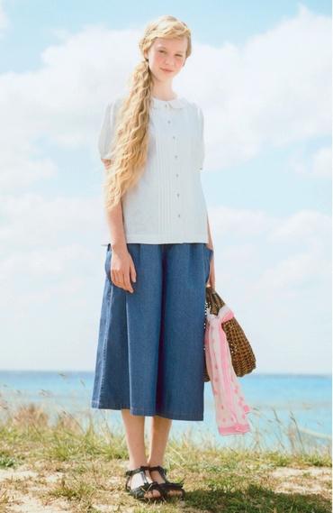 Fashion collection[ファッションコレクション]|スカート気分で気軽にコーデ7オンスデニムのガウチョパンツの会(3回限定コレクション)|フェリシモ