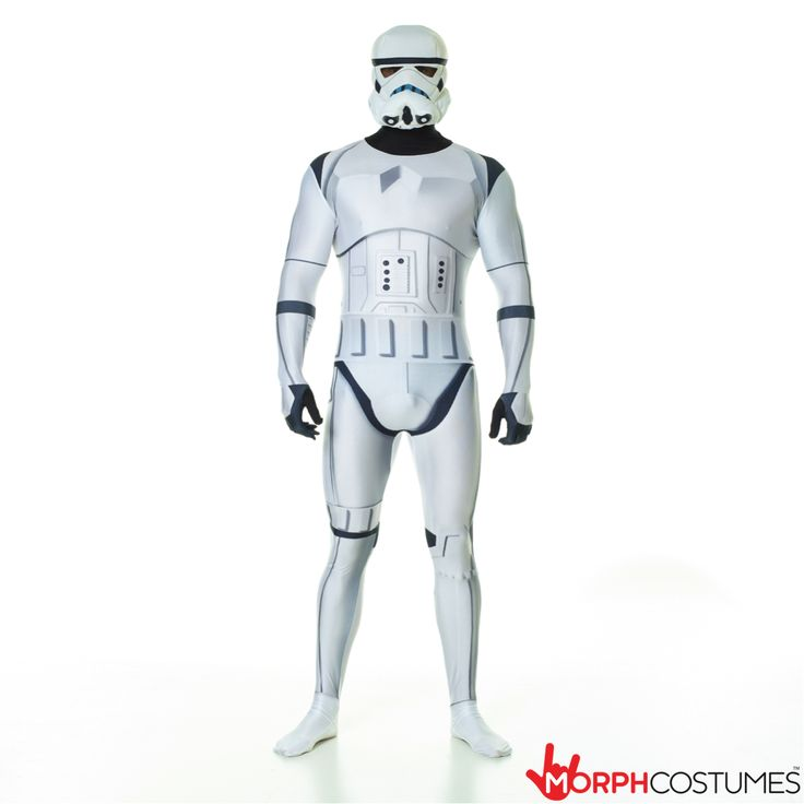 Star Wars fancy dress costumes: Do Darth Vaders evil bidding and serve the Galactic Empire as one the cult bad-boys of the Star Wars saga with the Star Wars Stormtrooper Morphsuit fancy dress costume.