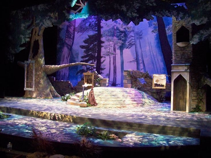 Set design, Int... Outdoor Stage In The Woods