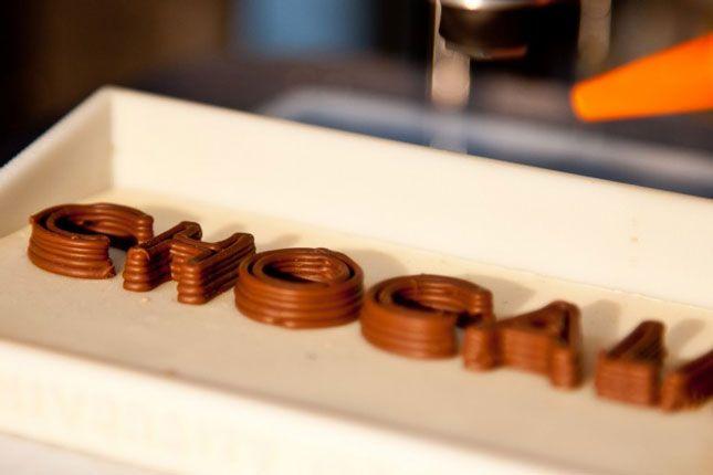 Rêve devenu réalité : la machine qui imprime du chocolat !
