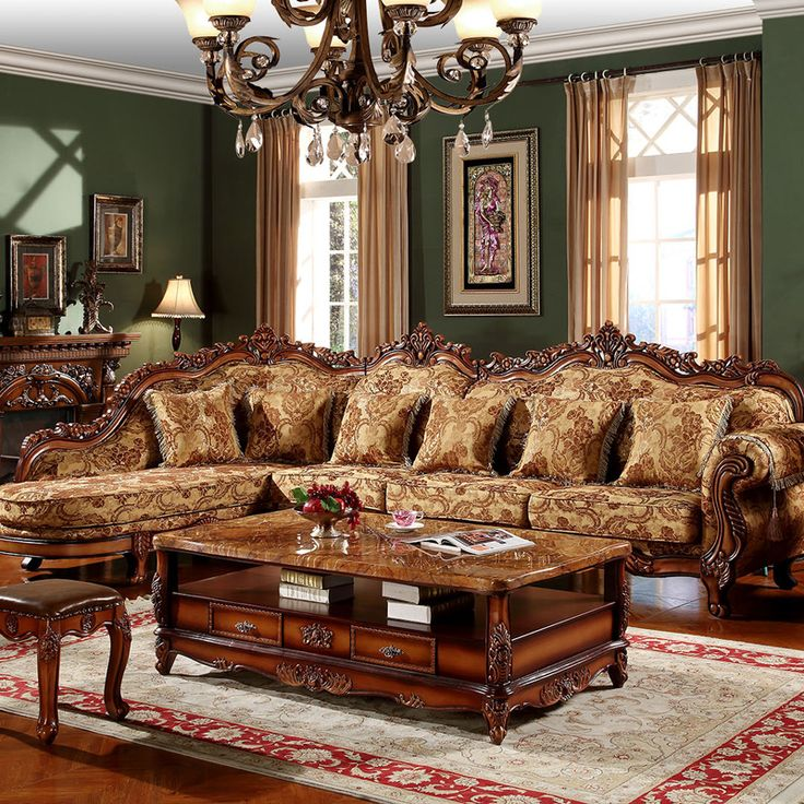 Traditional Sofas Living Room Furniture: ~ Traditional Sectional Sofa ~ Aliexpress.com