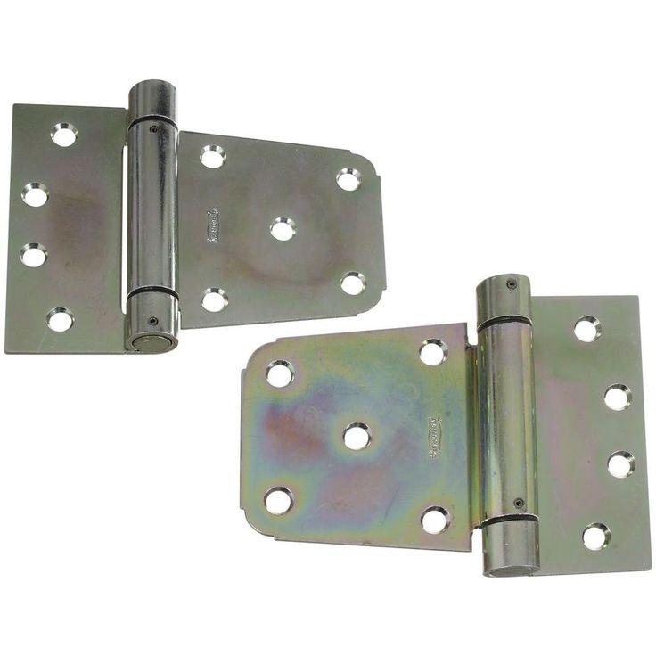3-1/2 in. Zinc-Plated Heavy Duty Auto-Close Gate Hinge Set