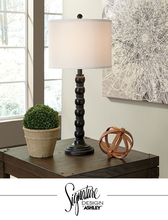 Shellany table lamp home accent lighting ashleyfurniture