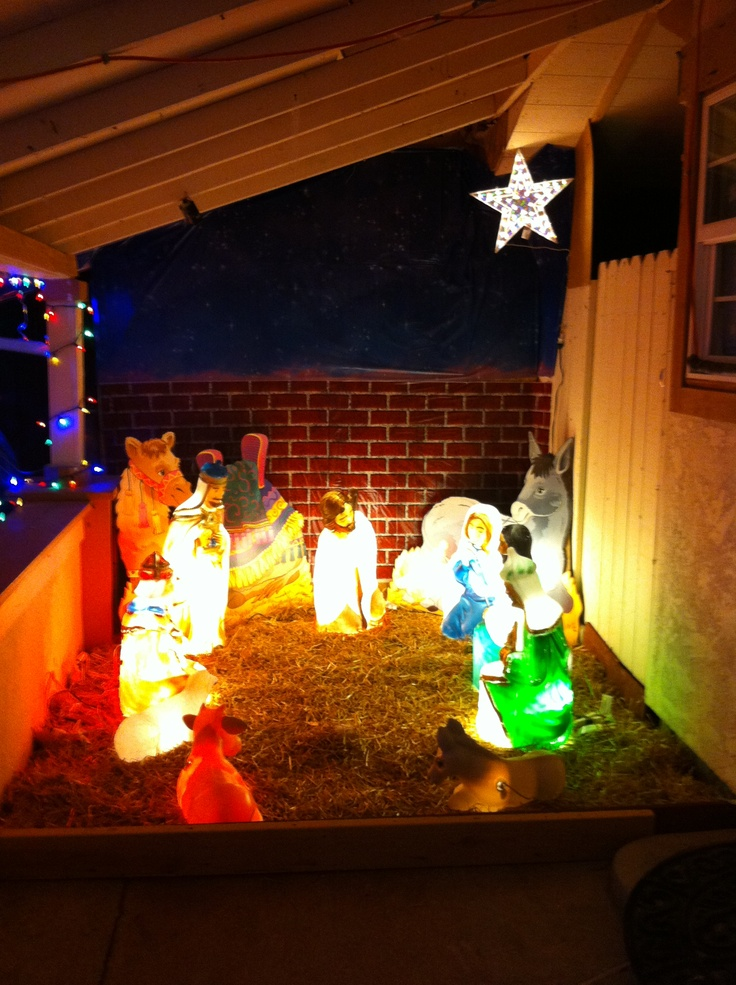 1000 images about reason for the season on pinterest for Outdoor christmas scenes